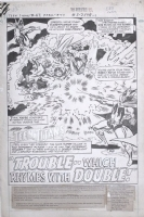 Teen Titans #47, PG.1 Title Splash Page. Comic Art